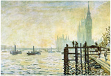 Claude Monet Westminster Bridge in London Art Print Poster Print