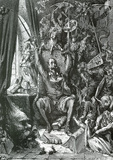 Gustave Dore (Don Quixote In His Library) Art Poster Print Masterprint