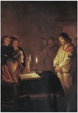Honthorst Christ in Front of the High Priest Art Print Poster Prints