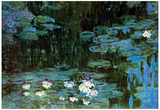 Claude Monet Water Lillies  1 Art Print Poster Prints