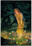 Edward Robert Hughes Midsummer Eve Colorful Art Print Poster Posters