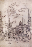 James Whistler The Piazzetta Art Print Poster Masterprint