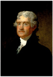 Matthew Harris Portrait of Thomas Jefferson Historical Art Print Poster Posters