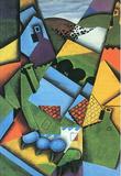 Juan Gris Landscape with Houses in Ceret Cubism Art Print Poster Lámina maestra