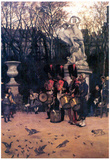 James Tissot The Return March in the Tuileries Art Print Poster Prints