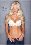 Jessa Hinton White Bra Jeans Photograph Poster Print by Mario Brown Poster