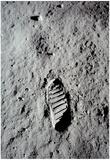 Moon Footprint (Buzz Aldrin Bootprint) Art Poster Print - Poster