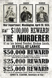 John Wilkes Booth Replica Wanted Poster Masterprint