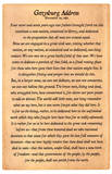 Gettysburg Address Full Text Poster Print Masterprint