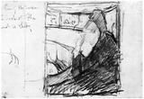 Mary Cassatt Sketch (in the opera) Art Print Poster Poster