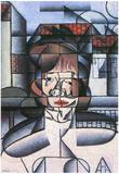 Juan Gris Portrait of Madame Germaine Raynal Cubism Art Print Poster Print