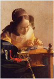Johannes Vermeer The Lacemaker Art Print Poster Prints