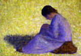 Georges Seurat Peasant Woman Seated in the Grass Art Print Poster Masterprint