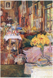 Childe Hassam The Room of Flowers Art Print Poster Photo