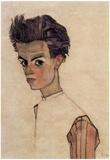 Egon Schiele (Self Portrait) Art Poster Print Poster