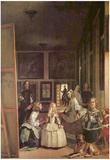 Diego Velazquez (Las Meninas (Self Portrait with the royal family)) Art Poster Print Prints