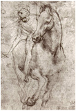 Leonardo da Vinci (Horse and rider) Art Poster Print Prints