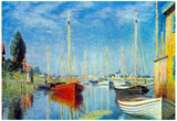 Claude Monet Pleasure Boats at Argenteuil Art Print Poster Photo