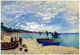 Claude Monet The Beach at Sainte Adresse 2 Art Print Poster Prints