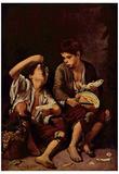 Bartolomé Esteban Perez Murillo (The melon eater) Art Poster Print Posters