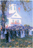 Childe Hassam Harvest in a Village in New England Art Print Poster Prints