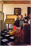 Johannes Vermeer The Music Lesson Art Print Poster Posters