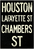 New York City Houston Chambers Vintage RetroMetro Subway Poster Posters
