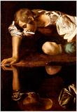 Michelangelo Caravaggio (Narzis) Art Poster Print Prints