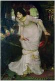 John William Waterhouse Lady of Shallot Art Print Poster Print