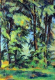 Paul Cezanne High Trees in the Jas de Bouffan Art Print Poster Masterprint
