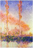 Claude Monet Poplars 2 Art Print Poster Posters