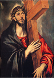 El Greco Christ Carrying the Cross 2 Art Print Poster Posters
