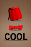 Fez and Bowtie Cool Poster Masterprint