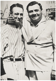 Lou Gehrig and Babe Ruth New York Yankees Archival Photo Sports Poster Print Print
