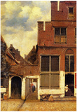 Johannes Vermeer The Little Street Art Print Poster Posters