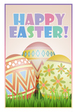 Happy Easter Art Poster Print Photo