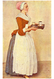 Jean-Étienne Liotard (The Chocolate Girl (Ms. Baldauf)) Art Poster Print Posters