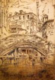 James Whistler Ponte del Piovan Art Print Poster Masterprint