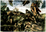 Michelangelo Resurrection of the Dead from the Graves Art Print Poster Prints