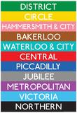 London Underground Tube Lines Travel Poster - Reprodüksiyon