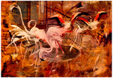 Giovanni Boldini Flamingos in the 'Palais Rose' in Vésinet Art Print Poster Poster