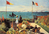 Claude Monet Garden at Sainte-Adresse Art Print Poster Masterprint