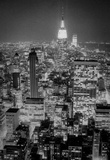 New York City Empire State Building Skyline at Night Archival Photo Poster Print Masterprint