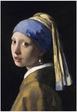 Flicka med pärlörhänge, konsttryck, affisch Bilder