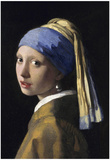 Johannes Vermeer Girl with a Pearl Earring Art Print Poster Photo