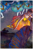 Edgar Degas Ballet from a Box View Art Print Poster Print