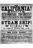 Gold Rush Handbill (California Direct, 1849) Art Poster Print Prints