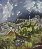 El Greco (View of Toledo Hillside) Art Poster Print Masterprint