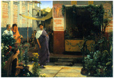Lawrence Alma-Tadema The Flower Market Art Print Poster Photo