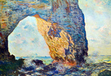 Claude Monet The Rocky Cliffs of Etretat La Porte Man Art Print Poster Masterprint